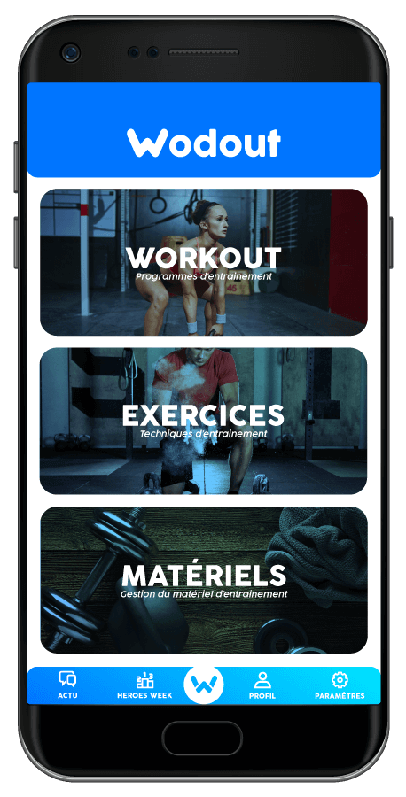 Wodout l'application de cross training disponible sur Google Play